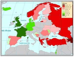 2009 Eurovision Final: Televotes versus Jury votes